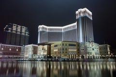 赌场酒店晚上 库存照片