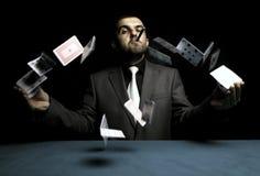 赌客人 免版税库存照片