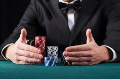 赌客赢取所有金钱 免版税库存图片