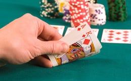 赌客 库存照片
