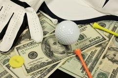 赌注高尔夫球 库存照片
