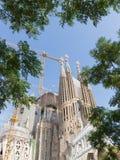 赎回的Sagrada Familia在卡塔龙尼亚 免版税图库摄影