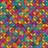 赖买丹月圈子五颜六色的无缝的样式 免版税库存照片