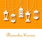 赖买丹月的Kareem阿拉伯灯笼背景 皇族释放例证