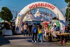 赖买丹月节日地区在亚洛瓦市-土耳其 库存图片