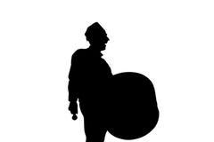 赖买丹月鼓手 免版税库存图片