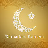 赖买丹月Kareem与甲晕和星的贺卡 免版税库存照片