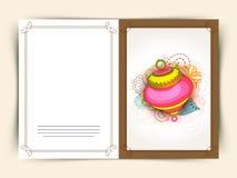 赖买丹月Kareem庆祝贺卡设计 库存图片