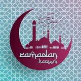 赖买丹月Kareem背景,赖买丹月穆巴拉克背景,伊斯兰教的背景 免版税库存照片