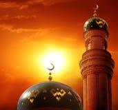 赖买丹月Kareem背景 伊斯兰教的招呼的Eid穆巴拉克拟订fo 免版税库存图片