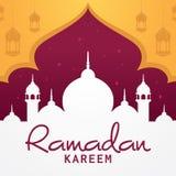 赖买丹月kareem贺卡伊斯兰教的传染媒介设计 免版税图库摄影