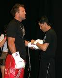 赖安Bader UFC战斗机 库存图片