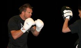 赖安Bader UFC战斗机 图库摄影