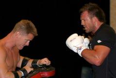 赖安Bader UFC战斗机 免版税库存照片