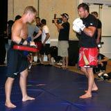 赖安Bader UFC战斗机 免版税库存图片