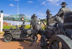 赛勒斯埃弗里百年广场在土尔沙-土尔沙-俄克拉何马- 2017年10月17日 免版税图库摄影
