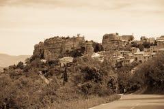 赛尼翁村庄视图在普罗旺斯,法国 免版税图库摄影