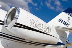 赛斯纳飞行器公司引证君主 库存照片