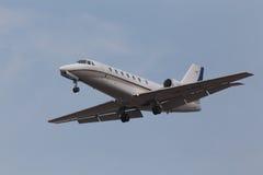 赛斯纳680架企业飞机 库存图片