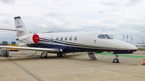 赛斯纳680A引证纬度在伊斯坦布尔Airshow 库存照片