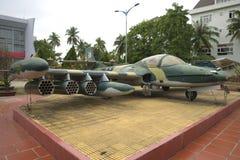 赛斯纳A-37蜻蜓-美国战利品强击机在博物馆第5军事化了区域 免版税库存照片