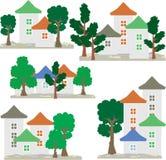 赛普里斯和杉木在风景 Eco公园 库存照片