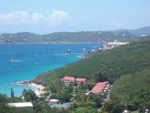 赛船会时间在加勒比 图库摄影