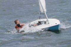 赛船会,航行,驾游艇者 库存照片