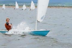 赛船会,航行,驾游艇者 库存图片
