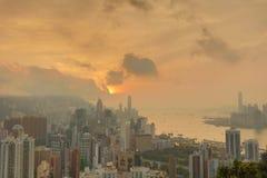 赛西尔的香港Ride先生景色  库存图片