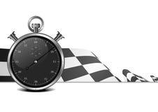 赛跑与秒表的标志 免版税库存照片
