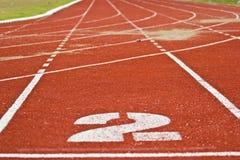 赛跑与编号的运输路线 库存照片
