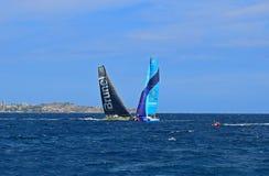 赛跑与队布鲁内尔富豪集团海洋种族阿利坎特的Vestas第11个小时2017年 免版税库存图片