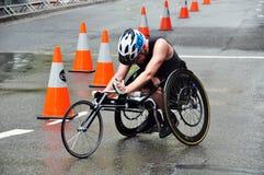 赛跑在新南威尔斯的轮椅是在澳大利亚的东海岸的一个状态 图库摄影