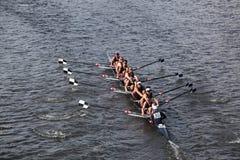 赛跑在查尔斯赛船会题头的TBC种族  免版税图库摄影