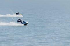 赛跑在海 免版税图库摄影