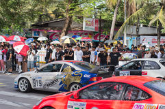 赛跑在Bangsan海滩的圈子 免版税库存照片