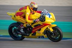 赛跑在TT阿森电路的1000cc 免版税图库摄影