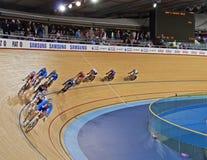 赛跑室内自行车赛场 图库摄影