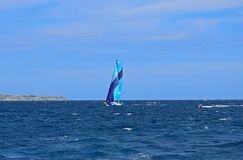 赛跑富豪集团海洋种族阿利坎特的Vestas第11个小时2017年 免版税库存图片