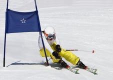赛跑年轻人的2奥地利女孩 免版税库存照片