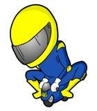 赛跑微型moto 库存例证