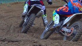 赛跑摩托车体育摩托车越野赛 股票视频