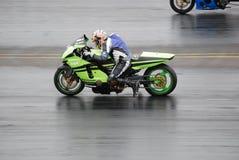 赛跑摩托车的阻力 库存图片