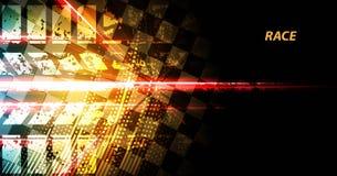 赛跑方形的背景,传染媒介在rac的例证抽象 免版税图库摄影