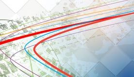 赛跑方形的背景,传染媒介在rac的例证抽象 皇族释放例证