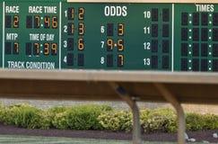赛跑时间--东海岸马跟踪 免版税库存图片