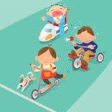 赛跑比赛的男孩 向量例证