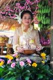 赛跑泰国的水牛节日 库存图片