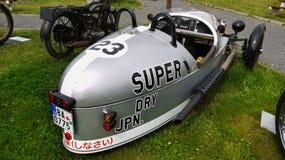 赛跑的摩托车,葡萄酒摩托车, BMW 免版税库存图片